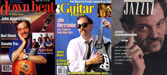 John Abercrombie - Magazine Covers Collage