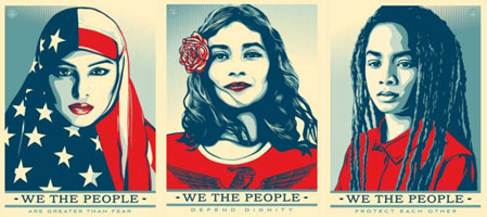 Shepard Fairey Women's March Posters