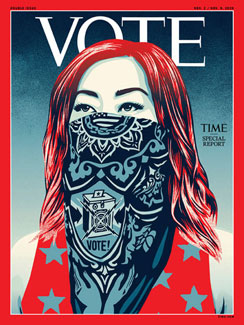 Shepard Fairey Time Magazine Cover
