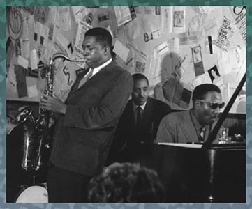 John Coltrane and Thelonious Monk at the Five Spot in New York